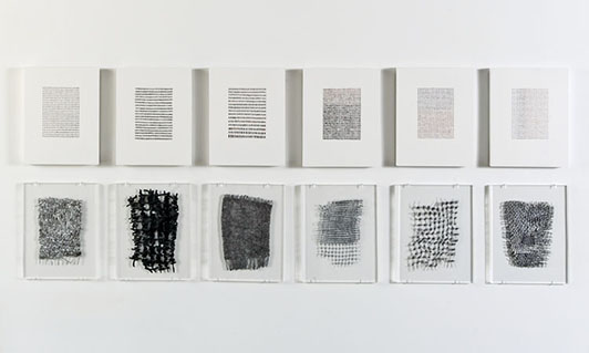 Sue Lawty Stone Drawings and Lead Weavings